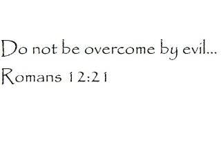 Do not be overcome by evil Romans 1221   Wall and home scripture, lettering, quotes, images, stickers, decals, art, and more