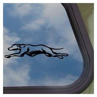 Greyhound Running Dog Black Decal Truck Window Sticker   Automotive Decals