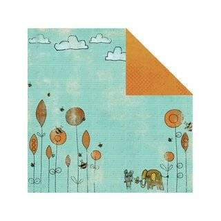 Prima 840884 12 by 12 Inch Animal Bash Double Sided Patterned Cardstock Paper, Eager, 10 Pack