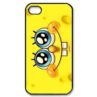 Personalized Cartoon SpongeBob SquarePants Protective Snap on Cover Case for iPhone 4/4S SS324 Cell Phones & Accessories