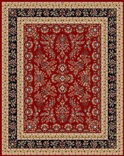 Safavieh Lyndhurst Collection LNH331B Red and Black Round Area Rug, 8 Feet Round