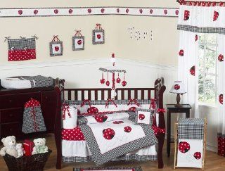 Red and White Polka Dot Ladybug Baby Girl Bedding 9pc Crib Set by Sweet Jojo Designs, Garden, Lawn, Maintenance Patio, Lawn & Garden