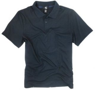Calvin Klein Men's Performance Knit Navy Polo Shirt (Large) at  Men�s Clothing store