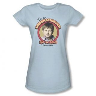 Two and a Half Men JAKE Short Sleeve Tee JUNIOR SHEER   LIGHT BLUE T Shirt Clothing