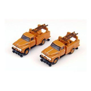 N 1954 Ford F 350 Utility Truck, Omaha Orange (2) Toys & Games