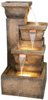 Ashboro Lighted Indoor Outdoor Water Fountain