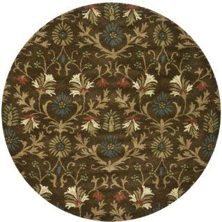 Safavieh BOT851A Botanica Collection Handmade Wool Round Area Rug, 6 Feet in Diameter, Brown and Multicolor   Round Carpet Rug