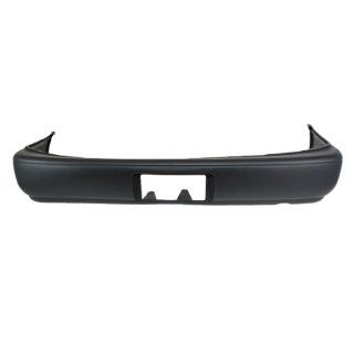 CarPartsDepot, Unpainted Sedan Rear Bumper Cover Replacement Black Assembly, 352 441772 20 BK TO1100213 TO1100213 Automotive