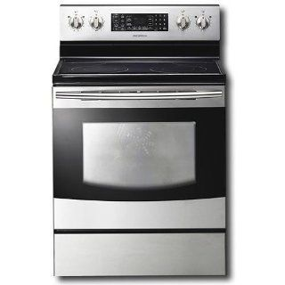 "Samsung FTQ353IWUX 30"" Stainless Steel Electric Smoothtop Range   Convection Kitchen & Dining"