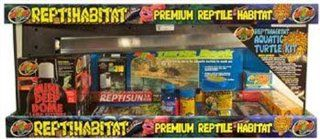 Zoo Med Laboratories SZMNTT21 Reptihabitat 20long Turtle Starter Kit