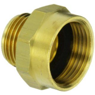 "Moon 357 1010751 Brass Fire Hose Adapter, Nipple, 1"" NPSH Female x 3/4"" GH Male Industrial Pipe Fittings"