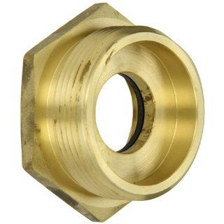 "Moon 356 1522521 Brass Fire Hose Adapter, Bushing Hex, 1 1/2"" NH Female x 2 1/2"" NH Male"