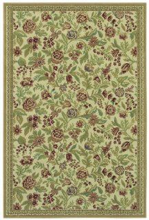 Shaw Living Woven Expression Gold Collection, English Floral Area Rug, 7 Feet 9 Inch by 10 Feet 10 Inch, Ivory