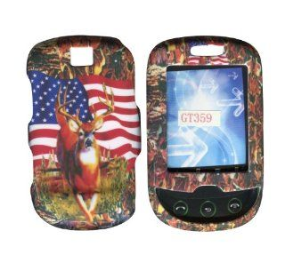 Camo Flag USA Samsung Smiley T359 T Mobile Case Cover Hard Phone Cover Case Faceplates Cell Phones & Accessories