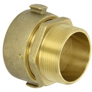 "Moon 363 25225621 Brass Fire Hose Adapter RL, Swivel, 2 1/2"" NH Swivel Female x 2 1/2"" NPT RL Male"