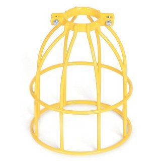 Woodhead 367V Safety Yellow Stringlight Guard, Commercial Duty, Metal Wire Guard, Vinyl Coated, A19 and A21 Lamp Type Portable Work Lights