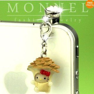 Ip370 Cute Hello Kitty Anti Dust Plug Cover Charm for Iphone 4 4s Cell Phones & Accessories