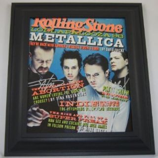 Metallica Load Group Signed Autographed 1996 Rolling Stone Custom Framed Loa Collectibles & Fine Art