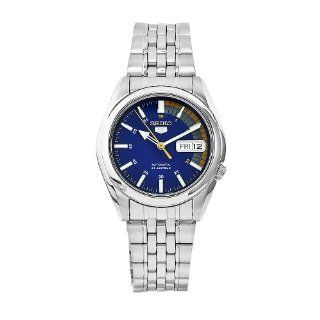 Seiko Men's SNK371K Seiko 5 Automatic Blue Dial Stainless Steel Watch Seiko Watches