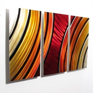 """Starburst"" Modern Abstract Metal Wall Art Painting Sculpture Decor"