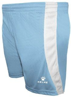Kelme Zaragoza Polyester Soccer Shorts  373 SKY BLUE/WHITE AS Sports & Outdoors