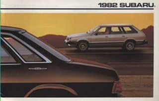 1982 Subaru DL GL 4wd Wagon Sedan Sales Brochure Catalog