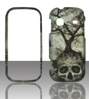 2D Tree Skull Samsung Gravity TXT T379 T Mobile Case Cover Hard Phone Case Snap on Cover Rubberized Touch Protector Faceplates Cell Phones & Accessories