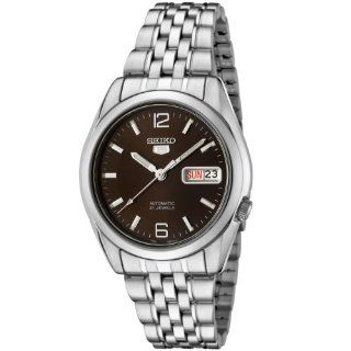 Seiko Men's SNK391K Seiko 5 Automatic Brown Dial Stainless Steel Watch Seiko Watches