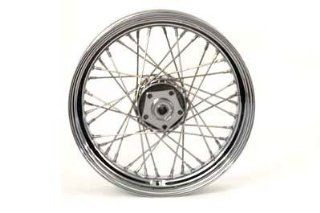 "Motorcycle 16"" Replica Front or Rear Spoke Wheel Automotive"