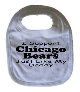 Chicago Bears Baby Bib Funny Bib Personalized Bib  Baby
