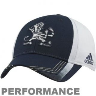NCAA adidas Notre Dame Fighting Irish 2012 Shamrock Series Players Performance Flex Hat   Navy Blue/White (Small/Medium) Clothing