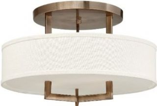 Hinkley Lighting 3201BR Three Light Down Lighting Semi Flush Ceiling Fixture from the Hampton Collection, Brushed Bronze