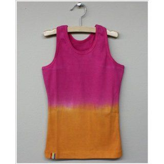 Girl and Company *Cotton Candy* Fuschia to Orange Ribbed Tank 4y Clothing