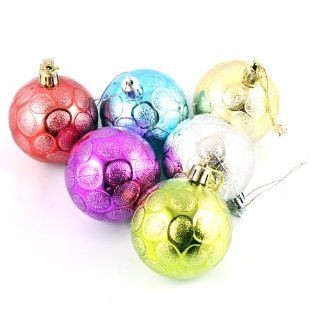 "2.3"" Multi Color Beehive Christmas Balls Hanging Ornaments Christmas Tree Decorations"
