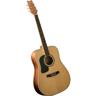 Washburn D10 Series Left Handed Dreadnought Acoustic Guitar Musical Instruments