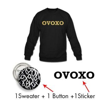 Xlarge + Black  Ovoxo Mega Pack  Crew + Pin + Sticker  Drake