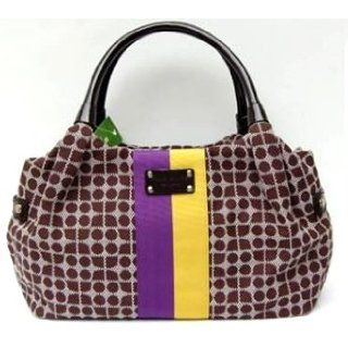 Kate Spade Classic Noel Stevie Handbag Bag Purple Yellow Clothing