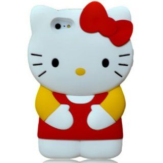 Hello Kitty 3D Silicone Case Cover for New Iphone 5 Xmas gift, Red/Yellow Cell Phones & Accessories