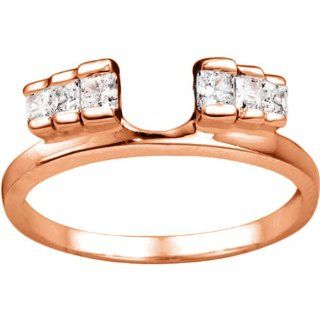 10k Yellow Gold Ring Wrap Enhancer (0.3 crt. Cubic Zirconia). Jewelry