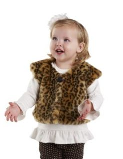 Mud Pie Girls Faux Fur Winter Vest Clothing