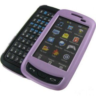 Rubberized Plastic Phone Case Cover Light Purple For Samsung Impression A877 Cell Phones & Accessories