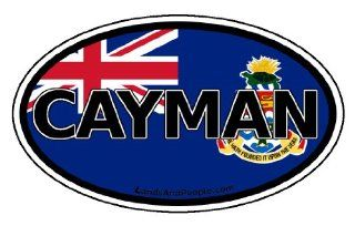Cayman Islands Flag Caribbean Car Bumper Sticker Decal Oval Automotive