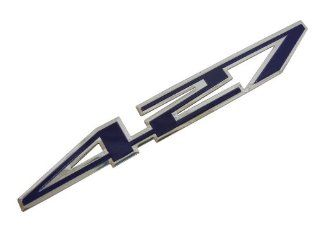Blue 427 CI Cubic Inch Real Highly Polished Aluminum Engine Hood Emblem Badge for Chevy Chevrolet Corvette Z06 C6 Chevelle Nova Camaro SS Yenko Stroker El Camino Impala Ford T Bird Thunderbird Galaxie Fairlane Mustang Shelby Cobra Automotive