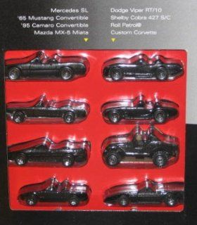 1995 Hot Wheels Black Convertible Collection Set of 8   Mercedes SL/'65 Mustang/'95 Camaro/Mazda MX 5 Miata/Dodge Viper RT/10/Shelby Cora 427 S/C/Roll Patrol/Custom Corvette Toys & Games