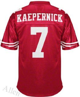 San Francisco 49ers Football Jersey #7 Kaepernick Red Jersey Size 52  Football Uniforms  Sports & Outdoors