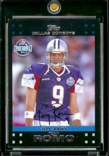 2007 Topps Football # 422 Tony Romo PB   Dallas Cowboys   ALL PRO   NFL Trading Cards Sports Collectibles