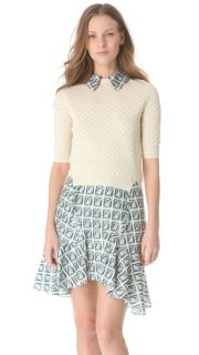 Carven Layered Short Sleeve Sweater