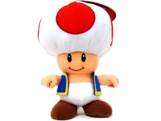 "Nintendo Super Mario   Toad 8"" Plush Doll"