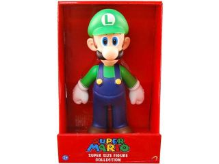 "Super Mario Bros Nintendo 9"" Super Size Figure Collection Luigi"
