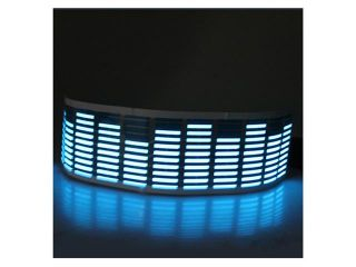 45 x 11CM Sound Activated Music Rhythm Blue LED Light Lamp Equalizer   Car Sticker
